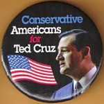 R41J - BC -  Conservative Americans for Ted Cruz Campaign Button