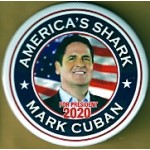 D2020  14A  - America's Shark Mark Cuban For President 2020  Campaign Button