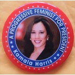 D2020  14D  - A Progressive Feminist For President Kamala Harris   Campaign Button