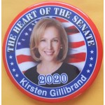 D2020  16C  - The Heart Of The Senate  Kirsten Gillibrand 2020  Campaign Button