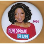 D2020  2B  - Run Oprah Run 2020  Campaign Button