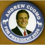 D2020  4A  - Andrew Cuomo For President 2020  Campaign Button