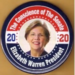 D2020  6A  - The Conscience of The Senate Elizabeth Warren President 2020  Campaign Button