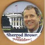 D2020  8B  - Sherrod Brown For President 2020  Campaign Button
