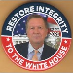 R2020 4A - Restore Integrity To The White House Kasich 2020 Campaign Button