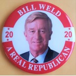 R2020 7A - Bill Weld A Real Republican 2020 Campaign Button