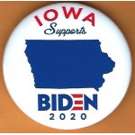 D2020 23B  - Iowa Supports Biden  2020  Campaign Button