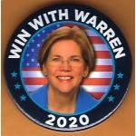 Warren  7A  - Win With Warren 2020  Campaign Button