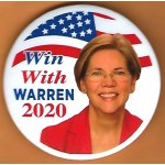 Warren  8B - Win With Warren 2020  Campaign Button