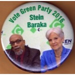 3rd Party 11N - Vote Green Party 2016  Stein  Baraka Campaign Button