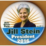 GP 2016 44L - Vote Green Party Jill Stein President 2016 Campaign Button