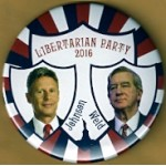 3rd Party 7P - Libertarian Party 2016 Johnson  Weld Campaign Button