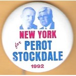 3rd Party 17F - New York for Perot Stockdale 1992 Campaign Button
