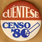 AD 22D - Cuentese Censo '80 Advertising Button