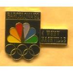 AD 7A - Barcelona '92 4 WSMV Nashville Lapel Pin