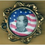 Bryan 4D - (William Jennings Bryan) Framed Campaign Button