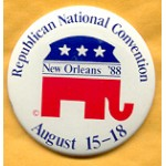 Bush 26A - Republican National Convention New Orleans '88 August 15 - 19 Campaign Button