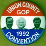 Bush 31D - Union County GOP 1992 Convention (George H.W. Bush) Campaign Button