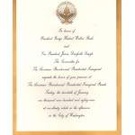 Bush 7L - Inauguration Of President And Vice President Bush Quayle 1989 Paper Invitation Inaugural Parade
