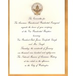 Bush 7M - Inauguration Of President And Vice President Bush Quayle 1989 Paper Invitation Vice Presidential Reception