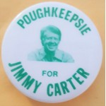 Carter 12G - Poughkeepsie For Jimmy Carter Campaign Button