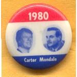 Carter 29D - 1980 Carter Mondale  Campaign Button