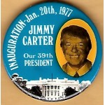 Carter 2P - Jimmy Carter  Our 39th President Inauguration Jan. 20th 1977 Campaign Button