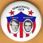 Carter 38H - Democratic 1976 Carter Mondale Campaign Button
