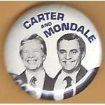 Carter 4F - Carter Mondale Campaign Button