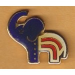 Cause 17E - Republican Elephant Lapel Pin