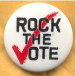 Cause 3D - Rock The Vote Campaign Button