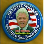 Clinton 27D - Democratic National Convention 2012 Bill Clinton Button