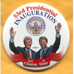 Clinton 46A - 53rd Presidential Inauguration Bill Clinton Button