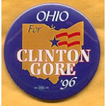Clinton 62A - Ohio For Clinton Gore '96 Campaign Button