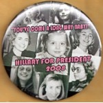 "Hillary 8F -  ""You've Come A Long Way Baby!"" Hillary For President 2008 Campaign Button"