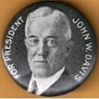 John W. Davis Campaign Buttons