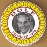 Dole 2M - Dole President 1996 Campaign Button
