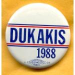 Dukakis 32A  - Dukakis 1988 Campaign Button