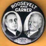 FDR 12E - Roosevelt And Garner Campaign Button