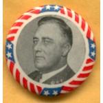 FDR 2E - (President Franklin Roosevelt) Campaign Button