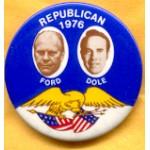 Ford 7Y - Republican 1976 Ford Dole Campaign Button