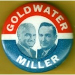 Goldwater 15B - Goldwater Miller Campaign Button