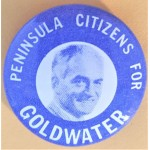 Goldwater 1L - Peninsula Citizens For Goldwater Campaign Button
