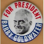 Goldwater 5J  - For President Barry Goldwater Campaign Button