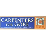Gore 4T - Carpenters For Gore United Brotherhood Of Carpenters & Joiners Of American Framing The Future Bumper Sticker