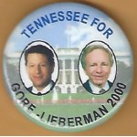 Gore 11K - Tennessee For Gore - Lieberman 2000 Campaign Button