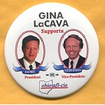 Gore 37A - Gina LaCava Supports Gore for President Campaign Button