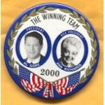 Gore 42A - President Al Gore Vice President Ann Richards 2000 Campaign Button
