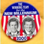 G.W. Bush 12F - The Winning Team for the New Millennium President George Bush Tom Ridge Vice President Campaign Button