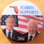 G. W. Bush 14H - Florida  Supports (Bush Cheney) 2004 Campaign Button